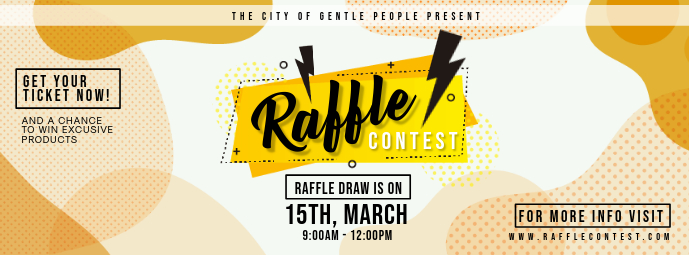 Modern Creative Raffle Ticket Custom Design Facebook-omslagfoto template
