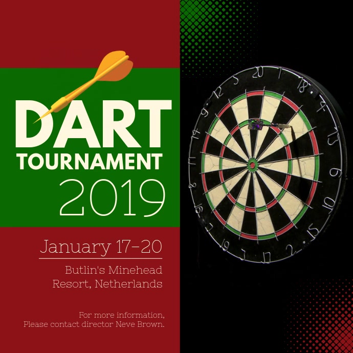 Modern Dart Tournament Square Video