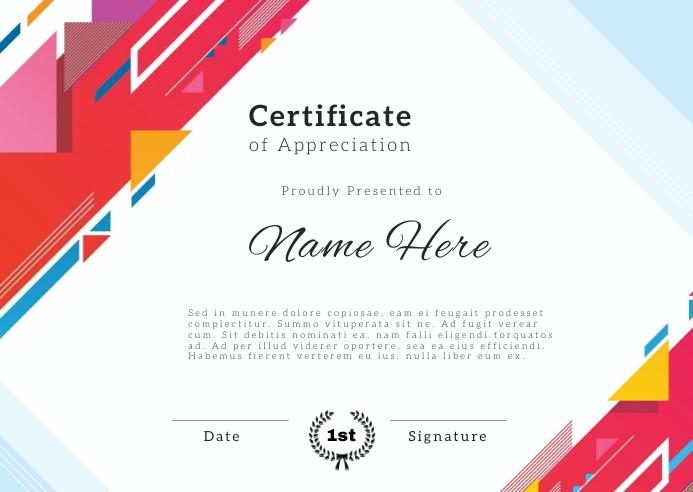 modern certificate new cool template design Открытка