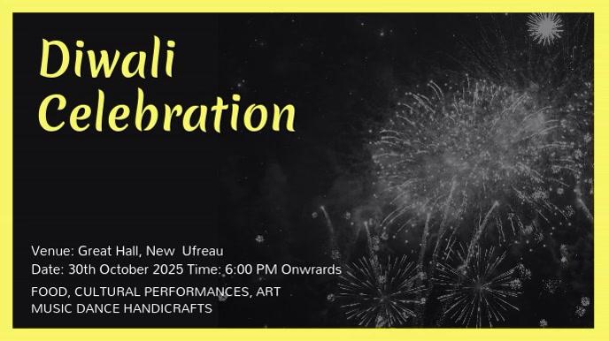 Modern Diwali Advertisement Video Template Digital Display (16:9)