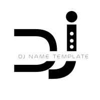 Modern DJ All Black Logo Design template