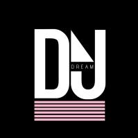 Modern DJ Music Producer Logo template