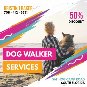 Modern Dog Walking Service Video Ad