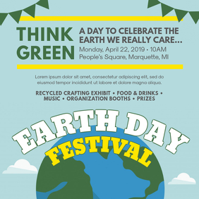 Modern Earth Day Event Invitation Template
