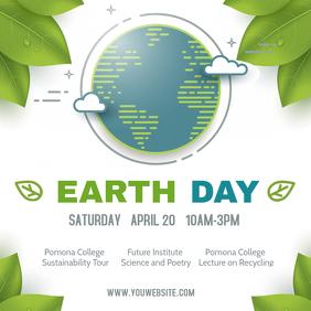 Modern Earth Day Seminar Event Ad