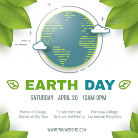 Modern Earth Day Seminar Event Ad