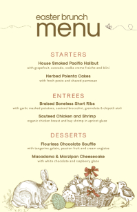 Modern Easter Bistro Menu Design