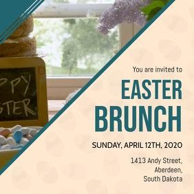 Modern Easter Brunch Invitation Video
