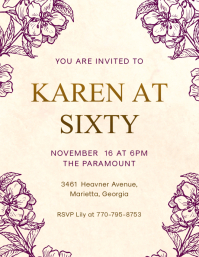 Modern Elderly Birthday Party Invitation