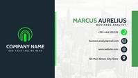 modern elegant dark blue and light green busi Business Card template