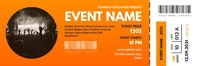 modern event party ticket yellow and orange c Banner 2' × 6' template
