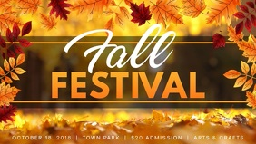 Modern Fall Festival Facebook Cover Video Template