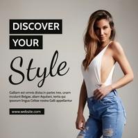 modern fashion advertisement black and white Сообщение Instagram template