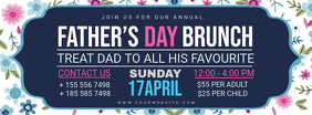 Modern Father's Day Brunch FB Header Фотография обложки профиля Facebook template