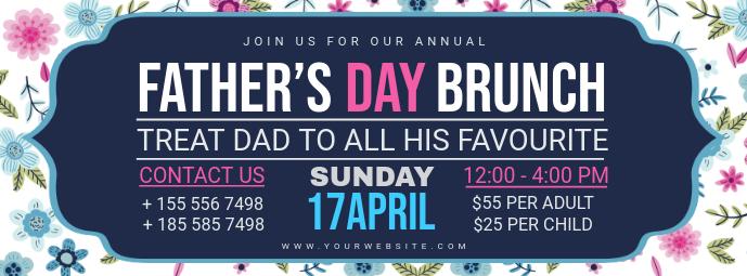 Modern Father's Day Brunch FB Header