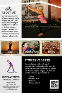 Modern fitness flyer - Fully customizable template