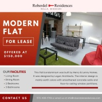 Modern Flat Open House Video Ad Square (1:1) template