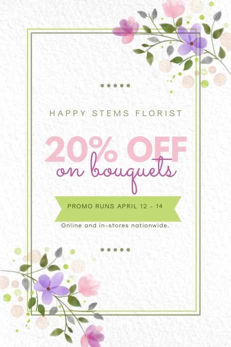 Modern Florist Sale Poster Design