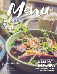 Modern Food Magazine Cover Template Flyer (US Letter)