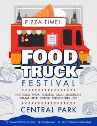Modern Food Truck Festival Flyer Template