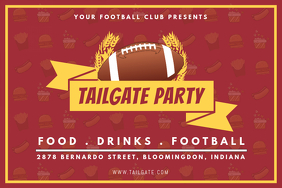 Modern Football Tailgate Party Invitation