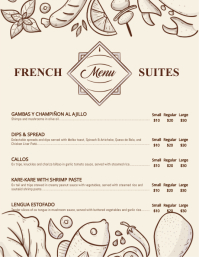 Modern French Bistro Menu Template