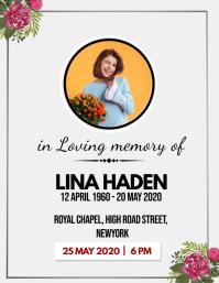 Modern Funeral Service Invite