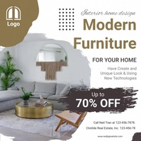 Modern Furniture Advertisement Social Media Square (1:1) template