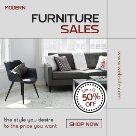 modern furniture sales instagram post adverti template