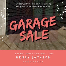 Modern Garage Sale Ad Square (1:1) template