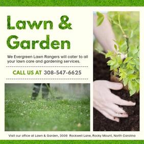 Modern Gardening Service Advertisement
