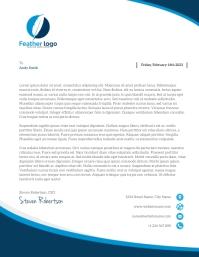 Modern Geometric Company Letterhead Flyer (US Letter) template
