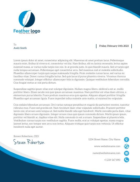 Modern Geometric Company Letterhead