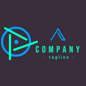 Modern geometric company logo