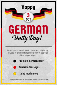 Modern German Day of Unity Poster Template