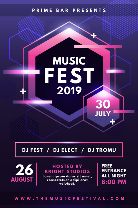 Modern Glossy Music Event Poster Cartaz template