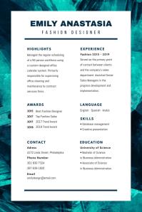Modern Green Blue Resume CV