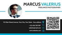 modern grey and blue business card Biglietto da visita template