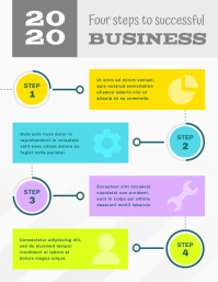 Modern Grey Business Infographic Flyer