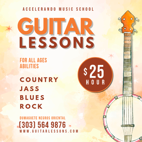 Modern Guitar Class Custom Ad Template