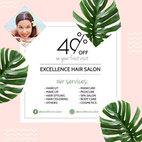 Modern Hair Dresser Advert Design template