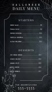 Modern Halloween Digital Display Menu Template