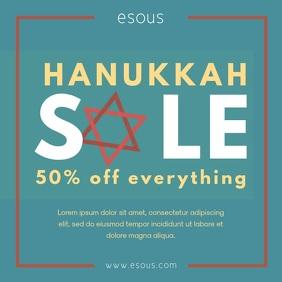 Modern Hanukkah Retail Square Video Ad