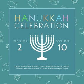 Modern Hanukkah Square Video Ad