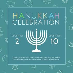 Modern Hanukkah Square Video Ad