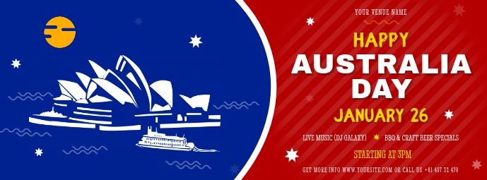 Modern Happy Australia Day FB Cover template