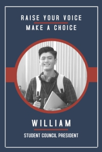 Modern High School Election Campaign Poster Template