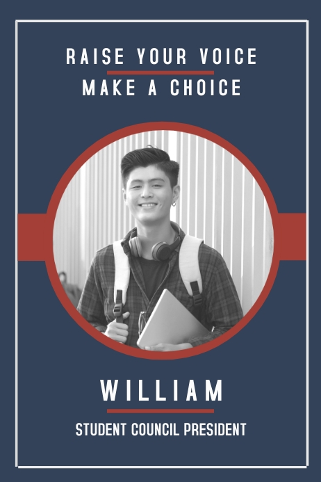 Modern High School Election Campaign Poster Template | PosterMyWall