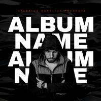 modern hip hop rap trap album cover design te template