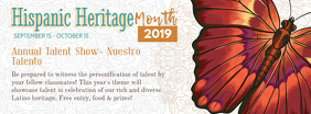 Modern Hispanic Heritage Month Banner